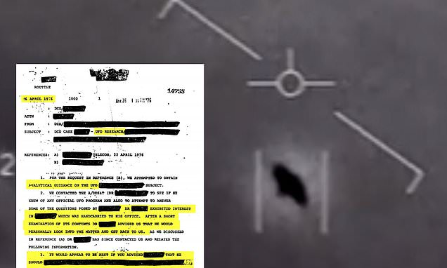 CIA declassifies more than two million pages of UFO documents | Daily Mail Online