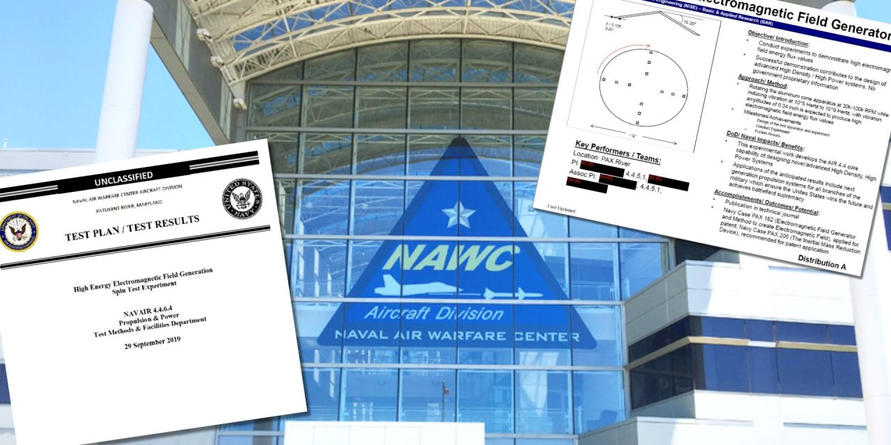 """The Navy Finally Speaks Up About Its Bizarre """"UFO Patent"""" Experiments"""