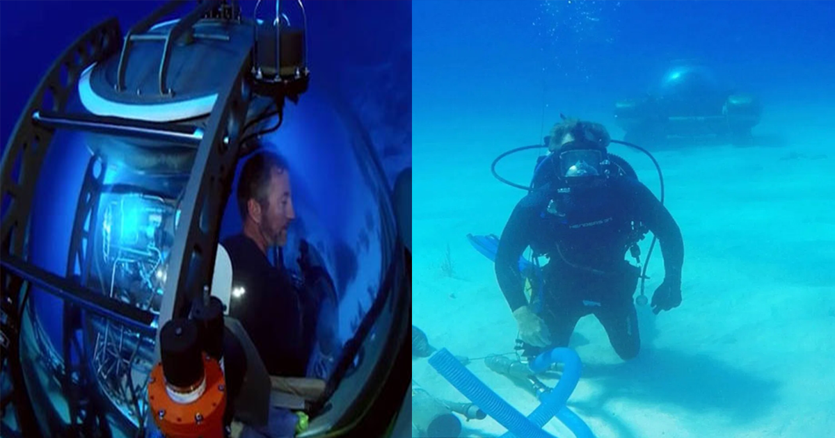 UFO Wreckage Found in Bermuda Triangle by Discovery Channel Explorer and Treasure Hunter – Revealed