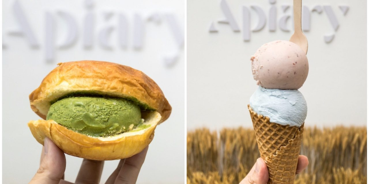 Apiary – NEW Ang Mo Kio Ice Cream Cafe With UFO Brioche Bun And Blue Milk Flavour