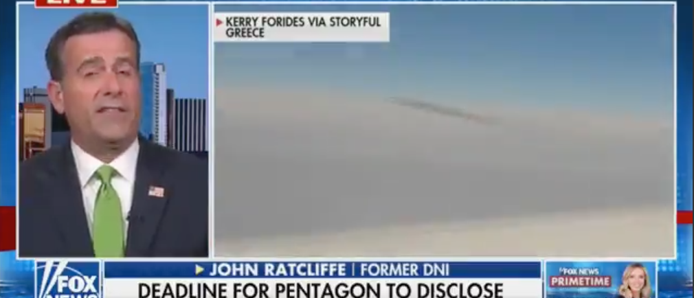 Former DNI John Ratcliffe Says The Government Has Proof Of UFO's Doing Things Humans Don't Have The Tech For   The Daily Caller