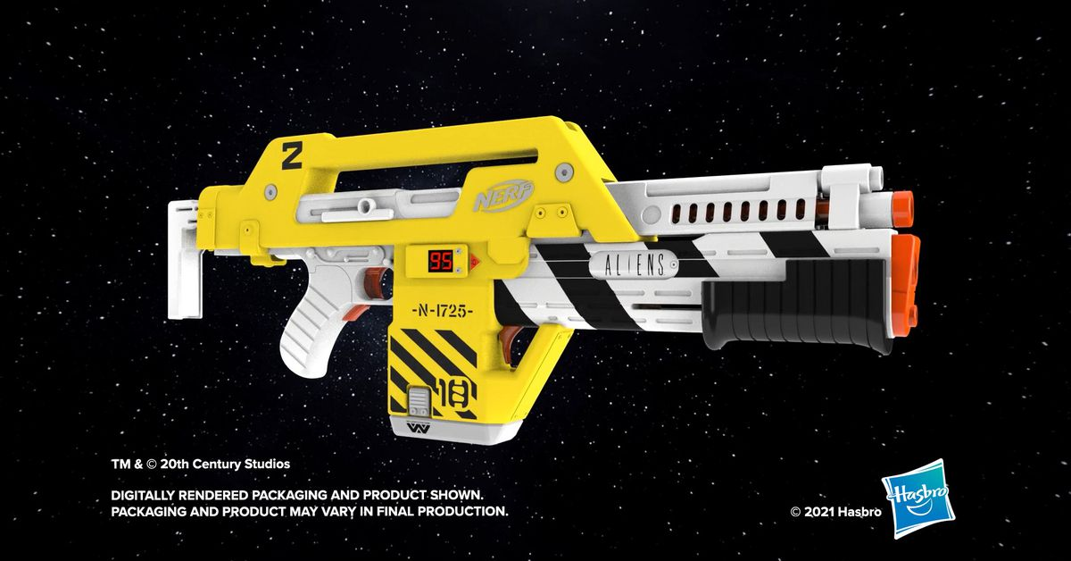 Nerf just made the iconic Aliens Pulse Rifle into a badass foam blaster – The Verge